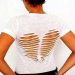 DIY camiseta reciclada de mujer