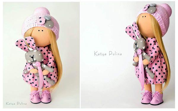 Patrón de muñeca de tela rusa