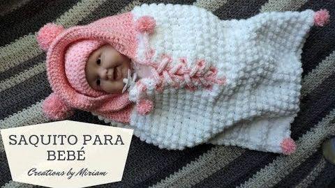 0e81e41e3 Saco de crochet para Bebé piel de Oveja - Patrones gratis