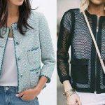 Patrón chaqueta mujer corte recto