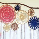 Cabecera de Jardín atrapasueños a crochet