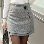 Mini falda cruzada tipo sobre