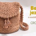 Bolso-mochila Jazmín tejido a crochet
