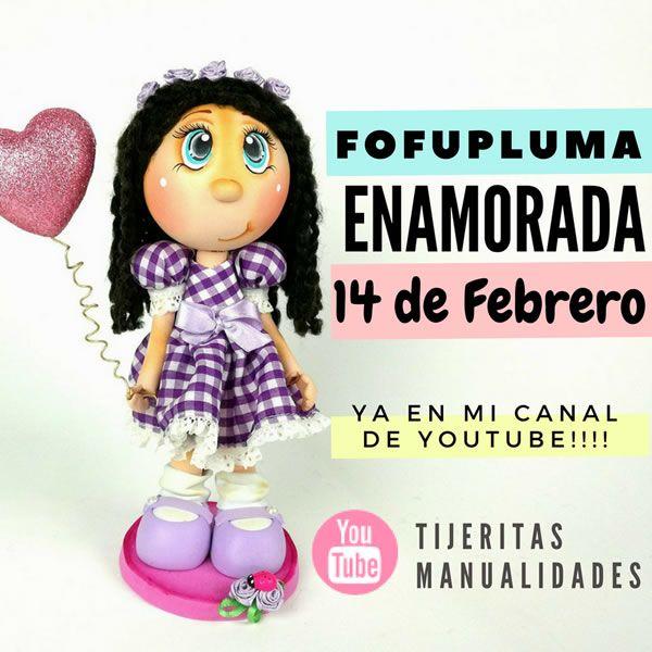 DIY FofuPluma enamorada con patrón