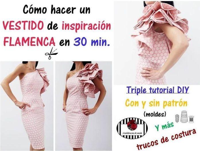 Vestido de inspiración flamenca en 30 min.