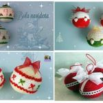 DIY bolas navideñas tejidas a crochet o amigurumi