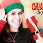 DIY Guantes Papá Noel a crochet