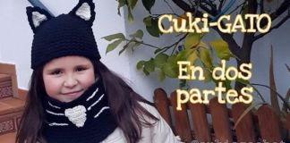 5bc6a884b DIY Gorro y cuello de gato a crochet