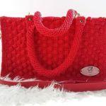 DIY Bolso rojo tejido a crochet