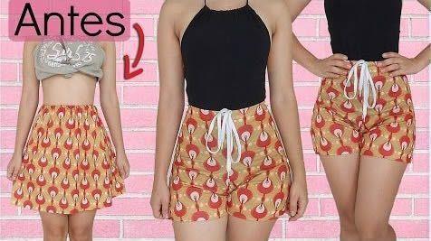 DIY Transformar una falda en Short