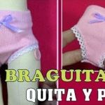 DIY Braguitas de muñecas con calcetines
