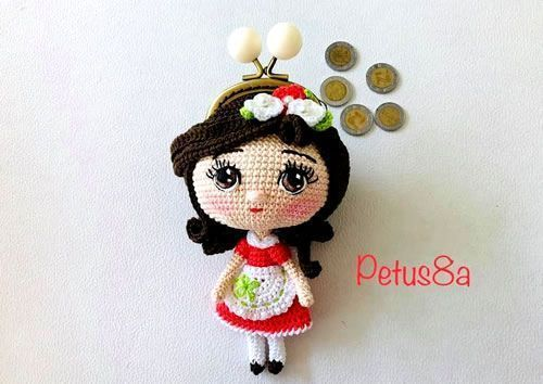 DIY Monedero de muñeca amigurumi o crochet