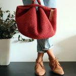 Bolso japonés tejido a crochet