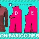 Como sacar un patrón básico de blusa fácilmente
