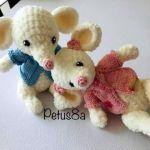 Ratón amigurumi tejido a crochet