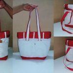 DIY Bolso mezcla vaquero blanco y tejido saco