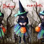 Disfraz de bruja de Halloween para niña