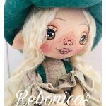 DIY y patrón muñeca Duende de tela