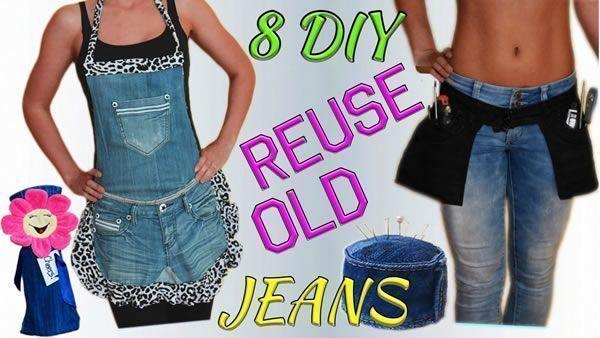 DIY formas creativas de reutilizar vaqueros o jeans