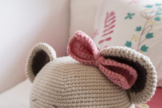 Amigurumi. diy toy. knitted brown bear cub. , prevention of ... | 355x533
