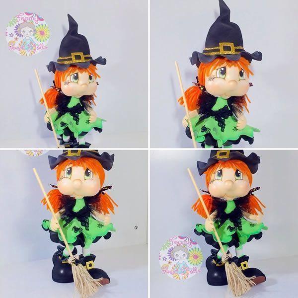 DIY Muñeca fofucha brujita Halloween