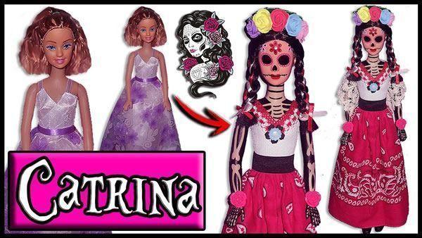Transforma Barbie en Catrina