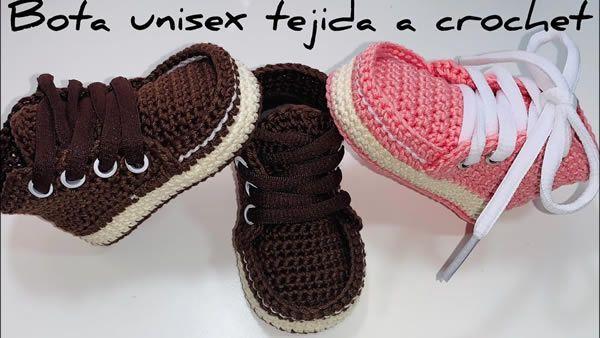 Botas para bebé tejidas a crochet|