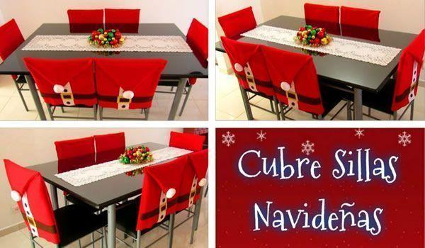 DIY Cubre sillas Navideños