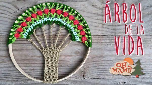 Árbol de la vida tejido a crochet