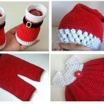 DIY Conjunto de bebe para Navidad a crochet