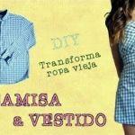 DIY transformar una camisa en un vestido de moda
