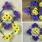 DIY Colgante de pared de flores de papel