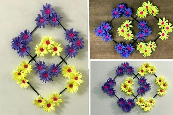 DIY Colgante de pared de flores de papel