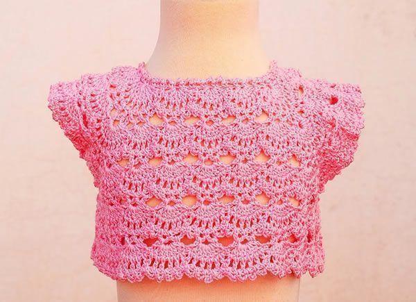 DIY Canesú para vestido a crochet