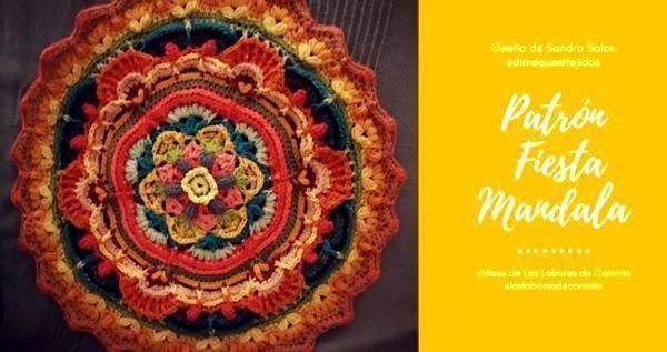 Patrón Crochet Mandala Fiesta