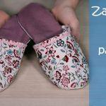 Zapatillas de tela con patrones
