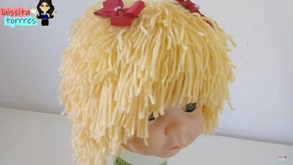 DIY Gorro peluca tejido a crochet
