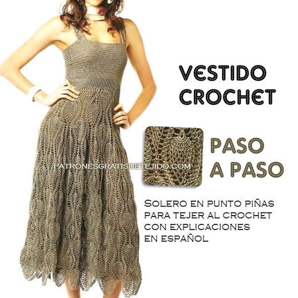 Vestido crochet paso a paso