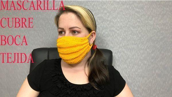 DIY Mascarilla cubreboca tejida a crochet