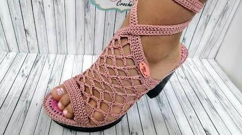 Como hacer unas lindas sandalias a crochet