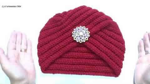 DIY Turbante básico a crochet