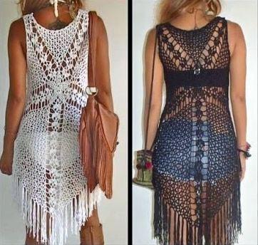 DIY Crochet blusa o vestido para playa
