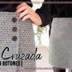 DIY Falda cruzada asimétrica patrón y confección
