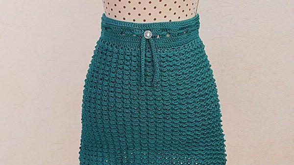 Falda a crochet todas las tallas muy fácil
