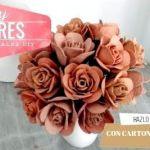 DIY Flores con cartón de huevos