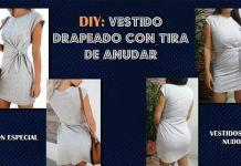 DIY Vestido drapeado con tira para anudar