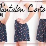 DIY Pantalón corto con vuelo o falda pantalón