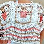 DIY Poncho a crochet con cuadrados