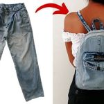 DIY Mini mochila jeans reciclando
