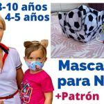 DIY Mascarillas para niños todas las tallas